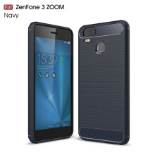 RockWolf Asus Zenfone 3 Zoom S ZE553KL case Brushed carbon fiber TPU soft shell