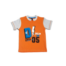 KIDS ICON - Kaos Anak Laki-laki DYL with Printing Detail Orange T-Shirt - DY1K0400180