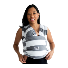 BABY K'TAN Carrier Cotton Print Charcoal Stripe