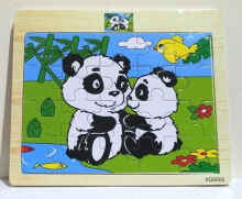 Theona Tata - Jigsaw Kayu Mini Animal / Mainan Edukatif Puzzle Randoom