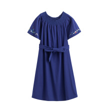 INMAN 1882102054 Dress Women Short Sleeve Solid Color Causal Style Off Shoulder Lady Dress