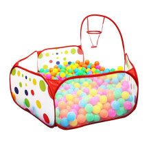 [OUTAD] Polka Dot Pattern Foldable Kids Play House Tent Outdoor&Indoor Basketball Tent Multicolor