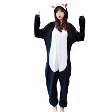 Anamode Flannel Cartoon Animal Siamese Pajamas Winter Long-sleeved Home Clothes -Demon -