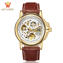 ouyawei Men Watches A1039 Automatic Mechanical Watch Sport Clock Leather Casual Business Retro Wristwatch