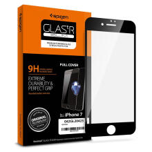 Tempered Glass iPhone 7 / 8 Spigen Glass FC Black Screen Protector