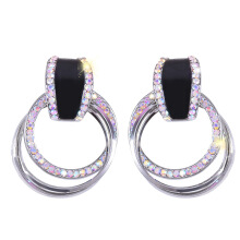 YOOHUI S925 silver needle European and American large diamond female temperament alloy earrings