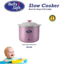 BabySafe Baby Safe Slow Cooker with Light Indicator LB008 Pink