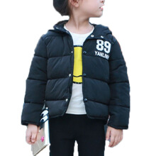 Anamode Kids Button Winter Coat Duck Down Jacket Children Hooded Feather Coat - Black -Onesize