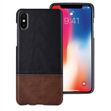 MOONMINI PU Leather Mobile Phone Case Cover Anti-scratch Dropproof Phone Protective Case for iPhone Xs Max Black