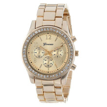 Farfi Rhinestone Decor Geneva Analog Quartz Wrist Watch