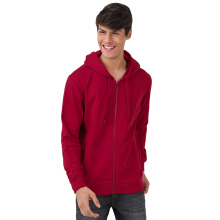 BESUTO Men Zip-Up Hoody (M) - Crimson Red