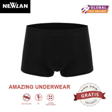 Newlan Men Boxer Briefs Sexy Comfortable Breathable Panties Square Shorts