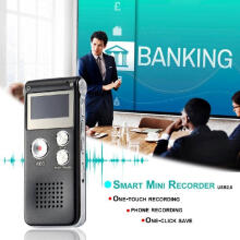 Veecome Portable USB Digital Sound Voice Recorder Professional Rechargeable Mini Sound Recorder Audio Record with LCD Backlit