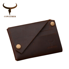 COWATHER New arrival Credit Card holder horse leather wallet men cow genuine leather Short wallet