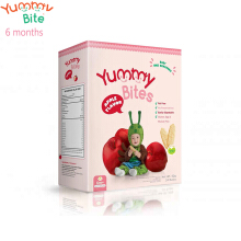 Yummy Bites Baby Rice Cracker 50 gram (Apple)