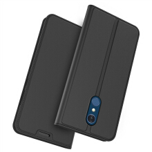 MOONMINI For LG Q8 PU Leather Ultra Thin Flip Protective Case Cover with Card Slot and Stand Function