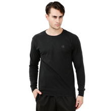CHAMPION Classic Jersey Long Sleeve Tee - Black