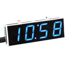 Geekcreit® DIY Digital Clock Kit Light Control Industrial Control 1 Inch LED Electronic Kit Blue
