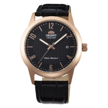 Orient Sentinel FAC05005B Automatic Men Black Dial Rose Gold Case Black Leather Strap [FAC05005B]