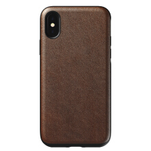 Nomad Rugged Premium Leather Case for iPhone XS / iPhone X - Rustic Brown