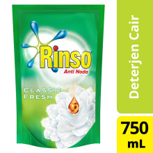 RINSO Anti Noda Classic Fresh Deterjen Cair 750ml