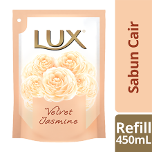 LUX Body Wash Velvet Jasmine Refill 450ml