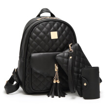 SiYing Korean Backpack bag version of the three-piece suit Black