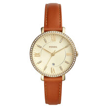 Fossil ES4293 Jacqueline Ladies Champagne Dial Brown Leather Strap [ES4293]