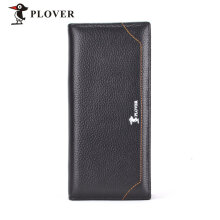 [LESHP]PLOVER GD5922-8A Men Luxury Business Long Wallet Black Large Capacity Black