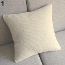 Farfi Home Bed Sofa Decor Square Throw Pillow Case Waist Cushion Cover
