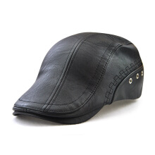JAMONT Men's 2018 new European and American fashion imported leather perforated cap
