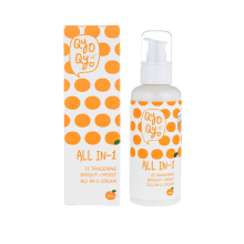 QYO QYO TANGERINE BRIGHT+MOIST ALL-IN-1 CREAM 150ml