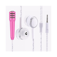 Mini Microphone Headset Karaoke Smule Video Conference Pink