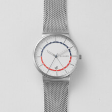 Skagen Ancher - White Round Dial 46mm - Stainless Steel - Silver - Jam Tangan Pria - SKW6251 - SL