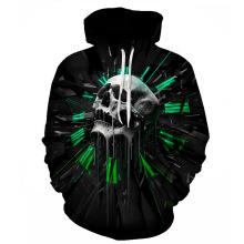 Anamode 3D Hooded Sweatshirts Printing Hoodies Pullover Funny Tracksuit -Skull -