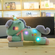 Jantens 55cm cute light unicorn plush toy luminous pillow home decoration Valentine Day gift for girls