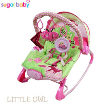 Sugar Baby Little Owl 10 in 1 Premium Baby Bouncer Rocker  - Ayunan Bayi - Pink