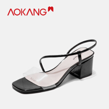 AOKANG New women sandals transparent r jelly shoes ladies beach sandals
