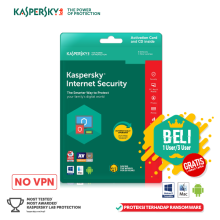 Kaspersky Internet Security 2018 - 3 User - 365 hari Berwarna