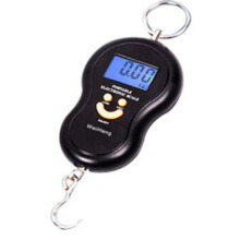 Jantens 40kg Electronic Scale Hanging Fishing Luggage Digital Pocket Weight Hook Scale Black 40kg