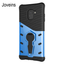 JOVEINS Samsung Galaxy A8 Plus 2018 Phone Case Multi-Layer Hybrid Protective Case with 360 Degree Rotating Stand for Cover