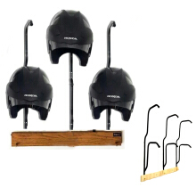 Creyos Gantungan Helm Multifungsi Model 6 Helm Horizontal - Black Black All Size