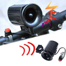 Farfi Electronic Bike Bicycle Ultra Loud Bell 6 Sound Effects Waterproof Alarm Speaker as the pictures