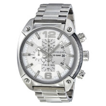 Diesel DZ4203 Overflow White dial Silver Stainless Steel Watch [DZ4203]