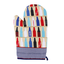 ARNOLD CARDEN Oven Mitts Cheers Bottle Right Side - Blue 17x25cm