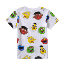 Little Boy Summer Tops, Toddler Baby Kids Cartoon Pattern Crewneck Short Sleeve Tee Shirt Clothes