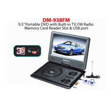DigiMedia DM-938FM 9.5 Portable DVD VCD CD MP3 MP4 JPEG USB TV, FM Radio Memory Card Games