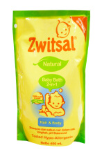 Zwitsal Natural Baby Bath 2 in 1 450ml
