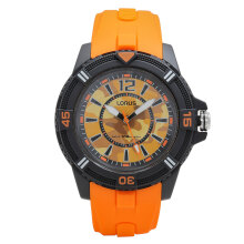 LORUS Jam Tangan - Orange Black - Silicon - RRX53FX9