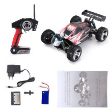 [kingstore] WLtoys A959 2.4G 1/18 Scale 4WD 45KM/h Electric RC Car RTR Off-road Buggy Red EU plug